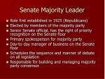 senate majority leader