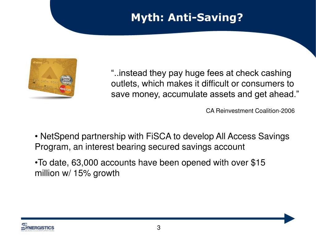 Myth: Anti-Saving?