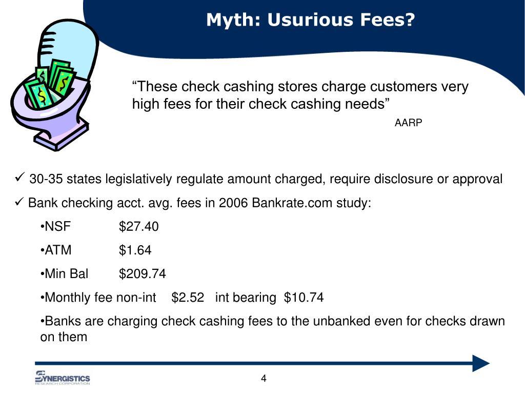 Myth: Usurious Fees?