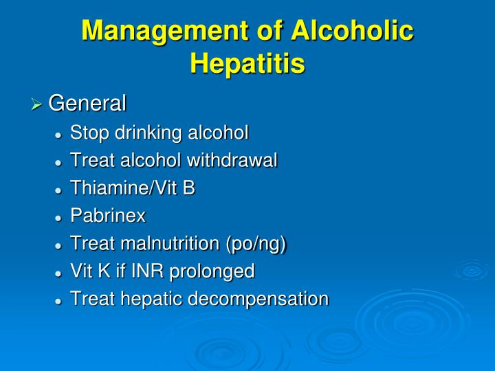 Management of Alcoholic Hepatitis