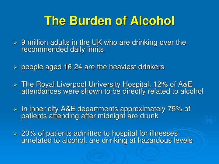 The Burden of Alcohol