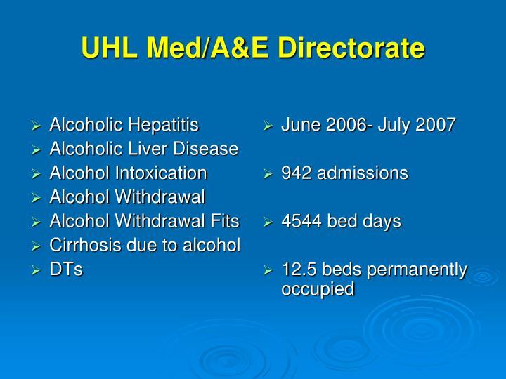 UHL Med/A&E Directorate
