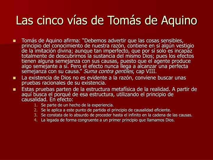 Las cinco vías de Tomás de Aquino