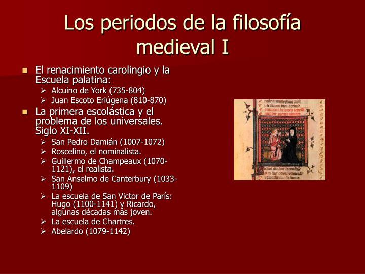 Los periodos de la filosofía medieval I