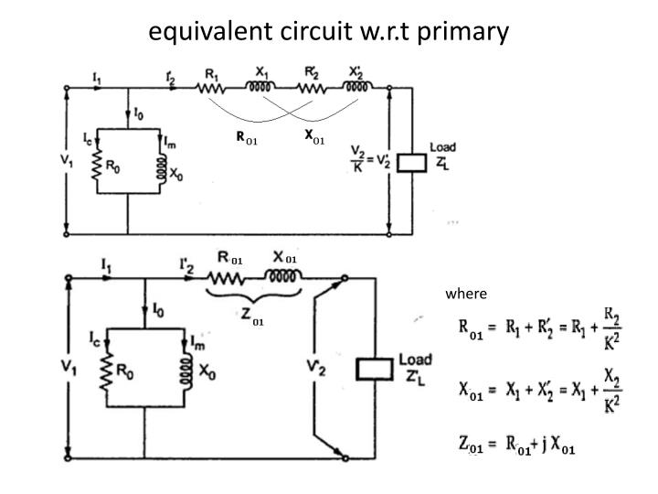 equivalent circuit w.r.t primary