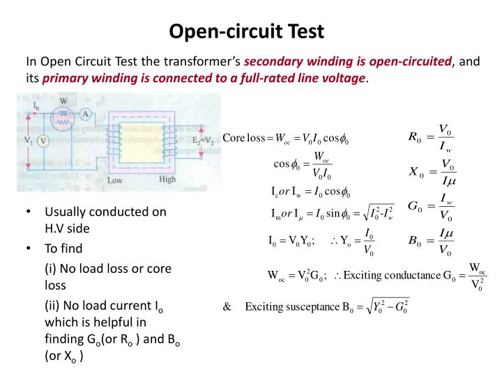 Open-circuit Test