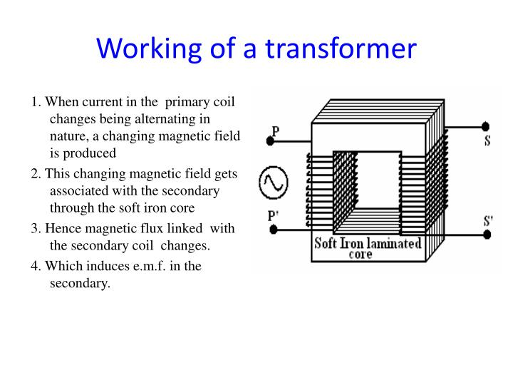 Working of a transformer