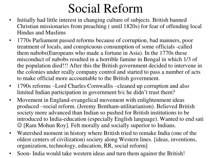 social reforms india Religious refroms movements in modern india notes explain the ideology of the arya samaj and its contributors to social and religious reforms.
