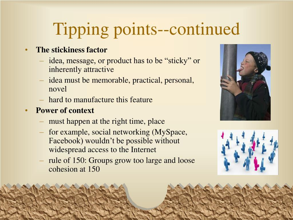 Tipping points--continued