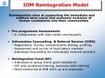 iom reintegration model