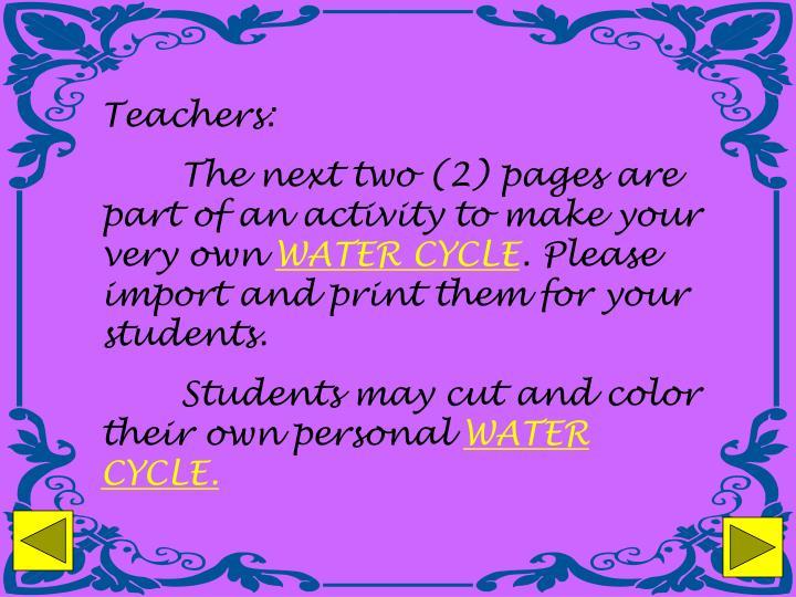 Teachers: