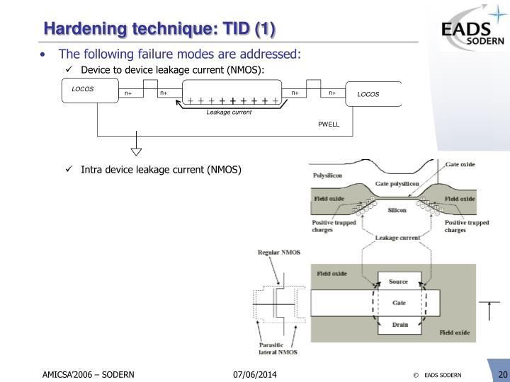 Hardening technique: TID (1)