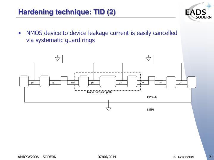 Hardening technique: TID (2)