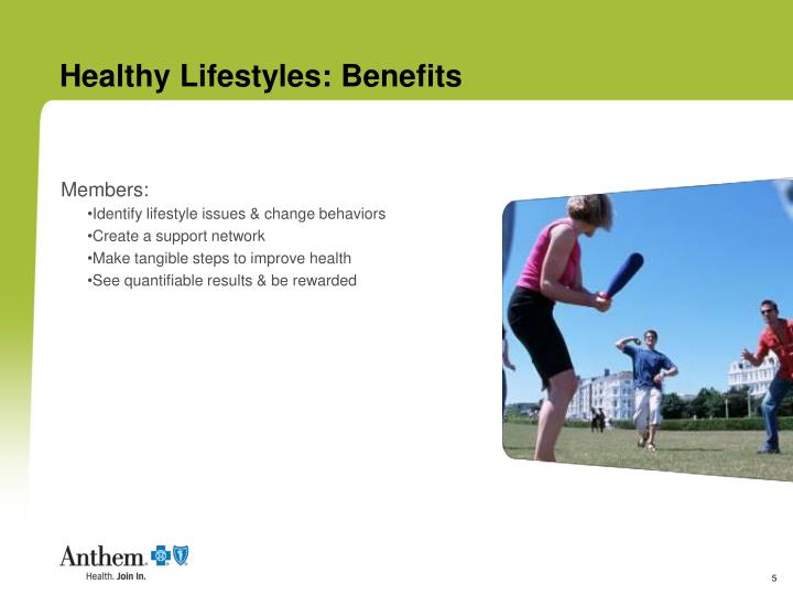 Healthy Lifestyles: Benefits