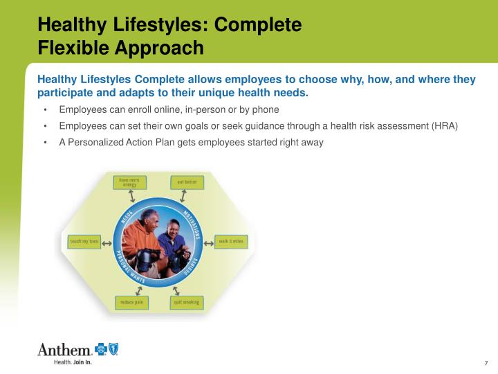 Healthy Lifestyles Complete allows employees to choose why, how, and where they participate and adapts to their unique health needs.