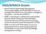 ifad afraca grants