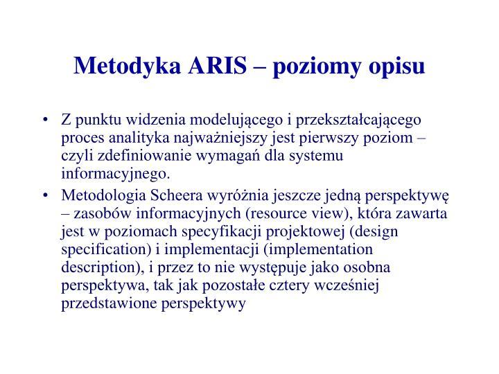 Metodyka ARIS – poziomy opisu