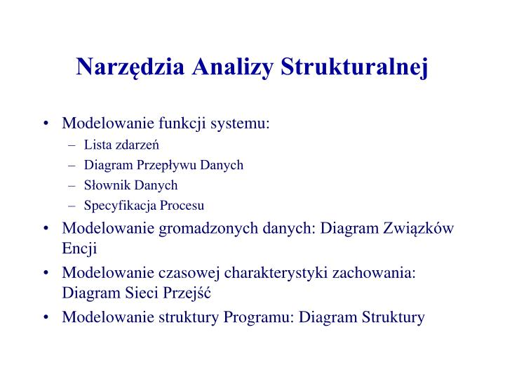 Narzędzia Analizy Strukturalnej