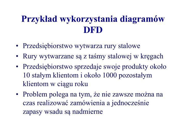 Przykład wykorzystania diagramów DFD