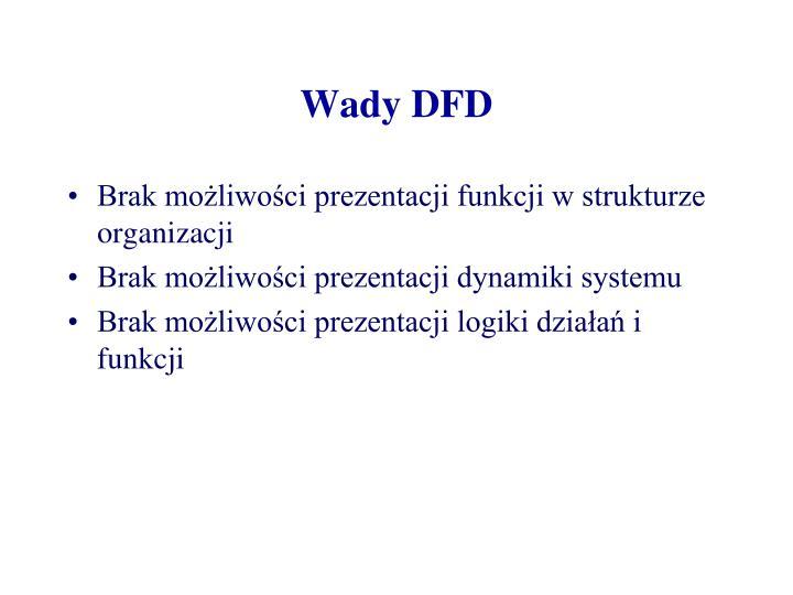 Wady DFD
