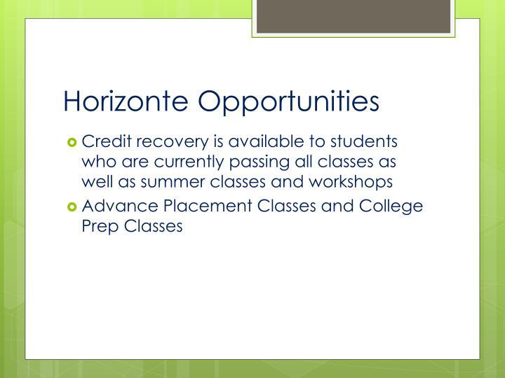 Horizonte Opportunities