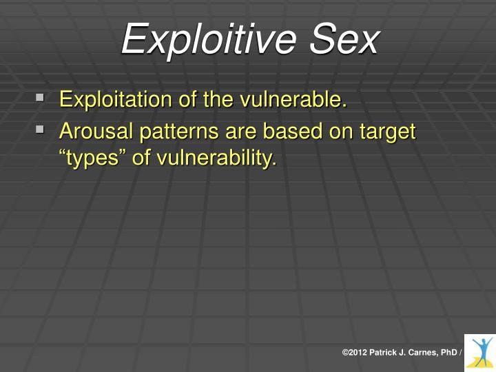 Exploitive Sex