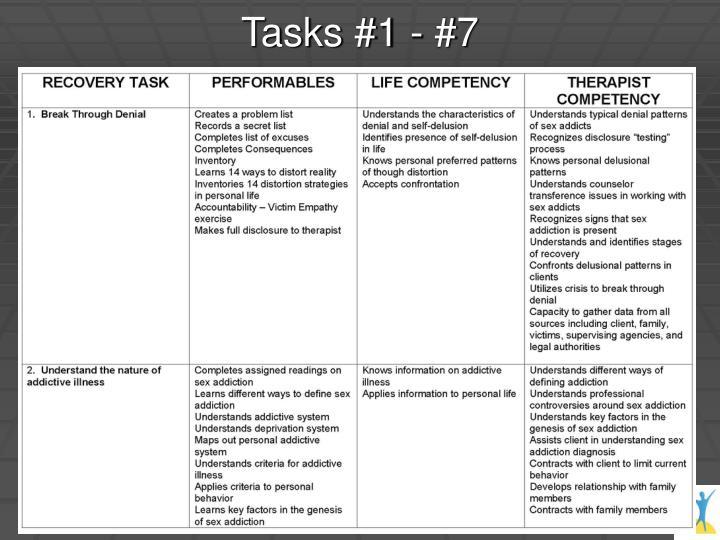 Tasks #1 - #7