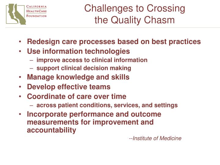 Challenges to Crossing
