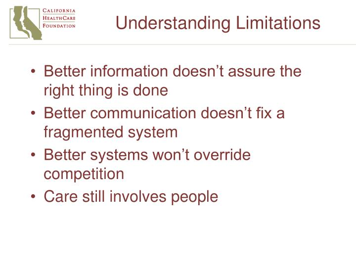 Understanding Limitations