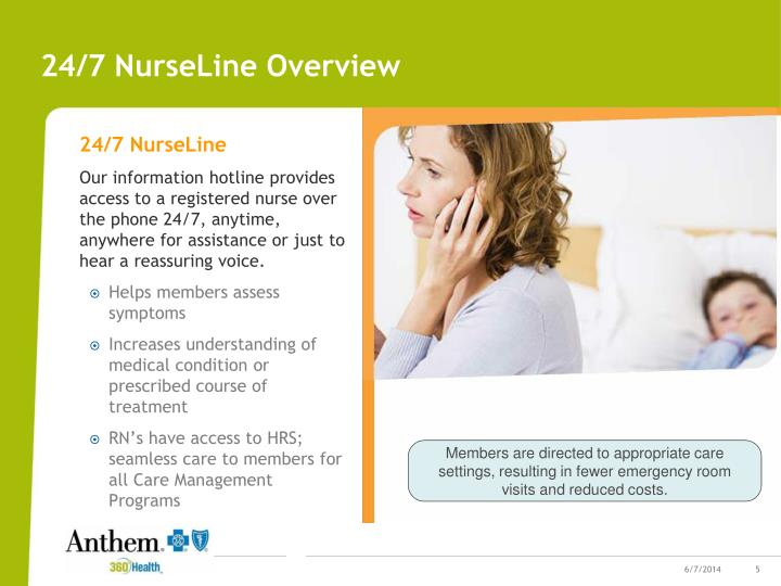 24/7 NurseLine Overview