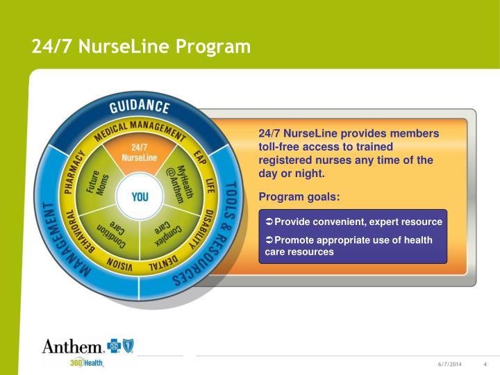 24/7 NurseLine Program