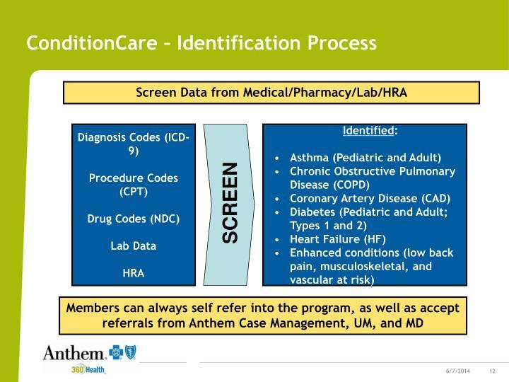 ConditionCare – Identification Process