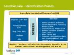 conditioncare identification process