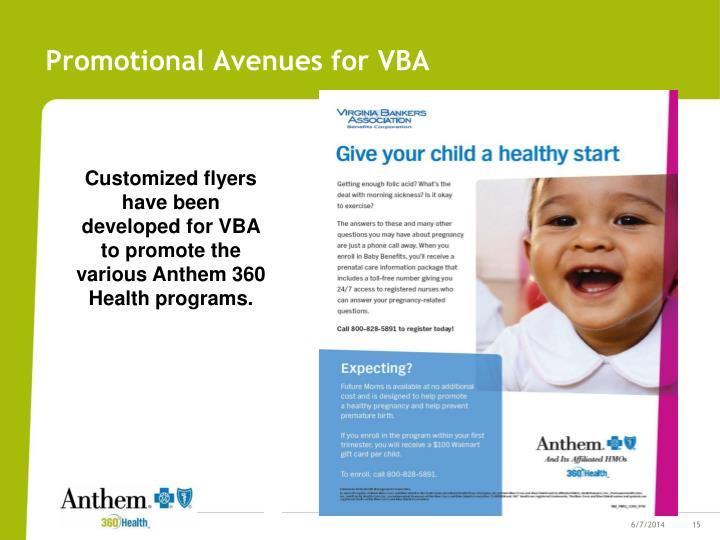 Promotional Avenues for VBA