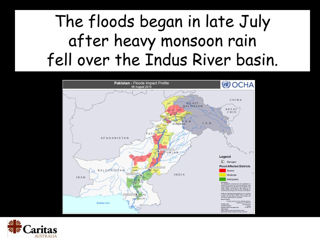 The floods began in late July