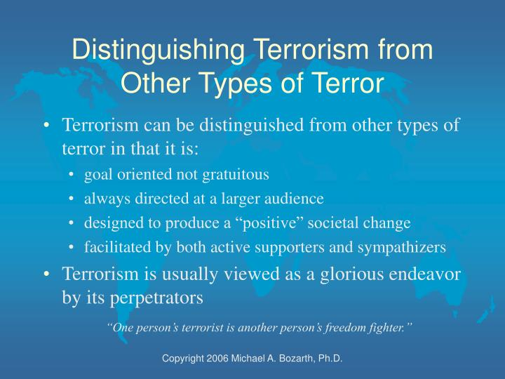 the psychology of terrorism essay Reading 1 moral psychology of terrorism (2013) introduction 2 horgan, j g (2017) psychology of terrorism: introduction to the special issue.