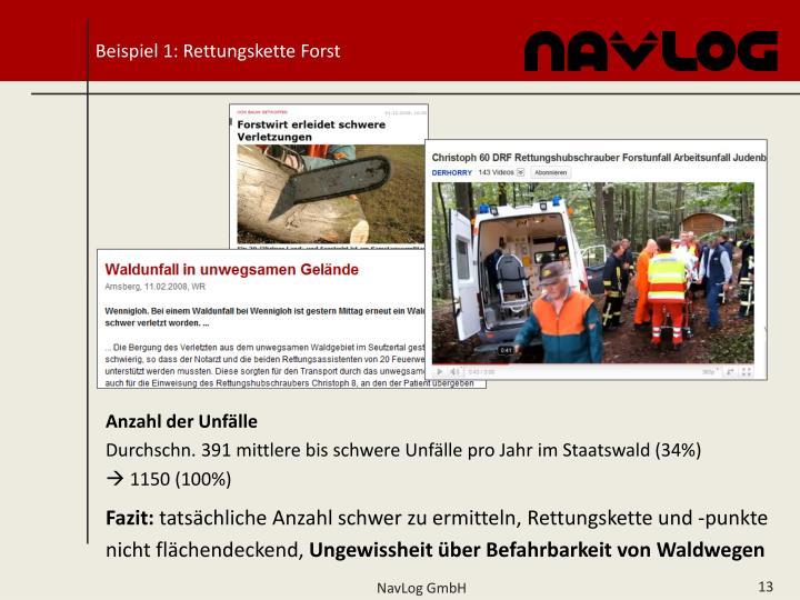 Beispiel 1: Rettungskette Forst