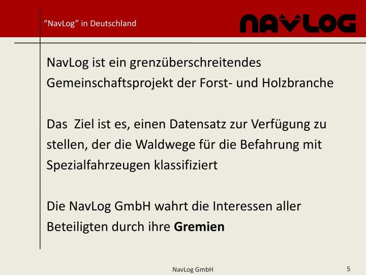"""""""NavLog"""" in Deutschland"""