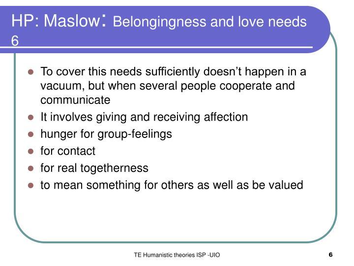 HP: Maslow