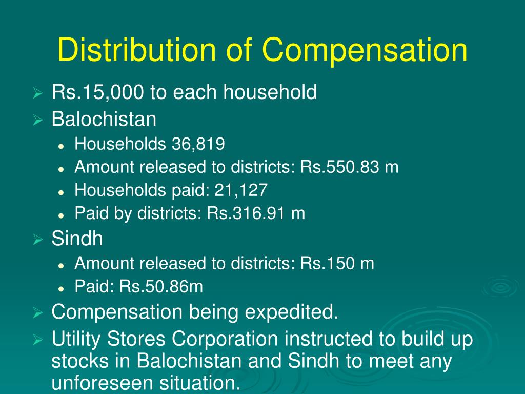 Distribution of Compensation