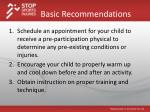 basic recommendations