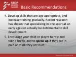 basic recommendations1