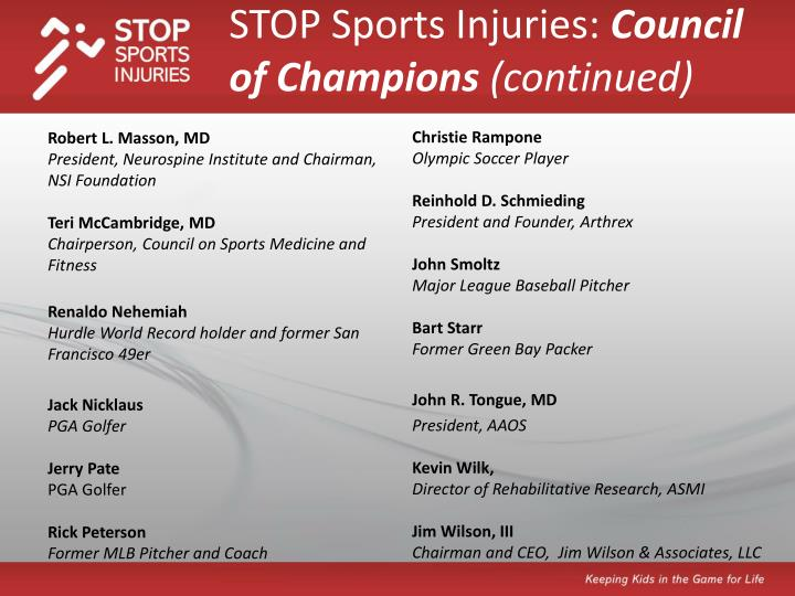 STOP Sports Injuries: