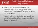 youth baseball rules and regulations1