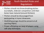 youth baseball rules and regulations2