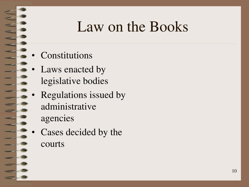 Law on the Books