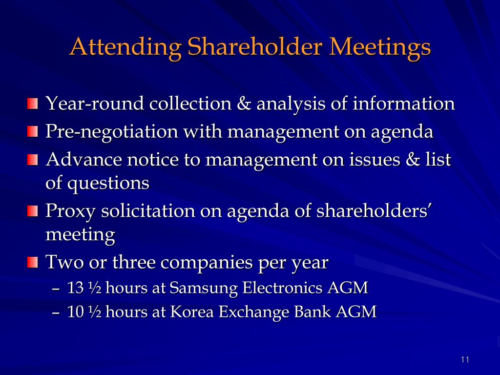 Attending Shareholder Meetings