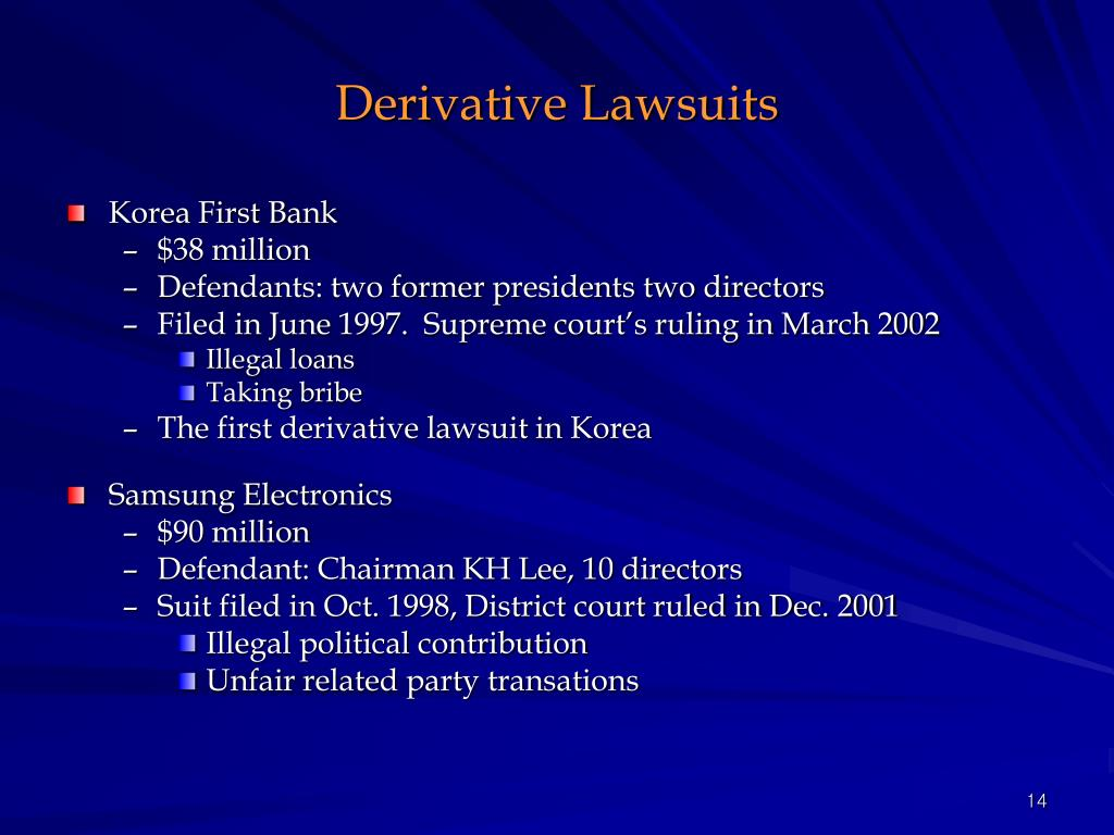 Derivative Lawsuits