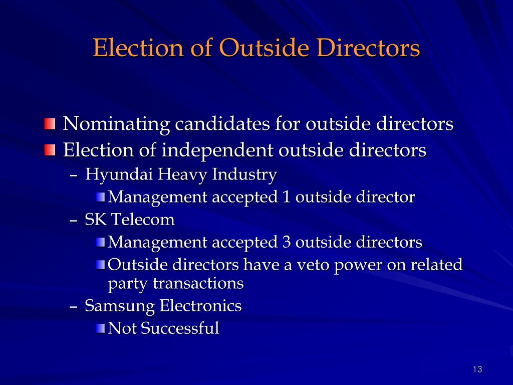 Election of Outside Directors
