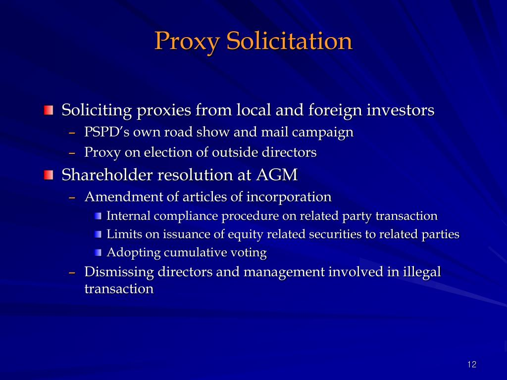 Proxy Solicitation